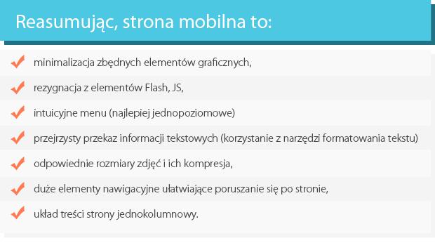 Cechy mobilnej wersji www
