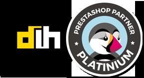 Certyfikat Silver Partnera PrestaShop, przyznany dla dih.pl