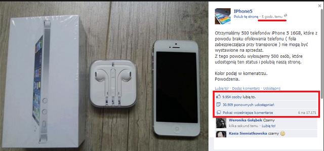 Konkurs na iPhona