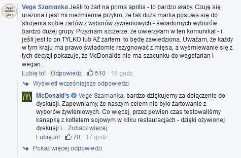 McDonald's komentarz